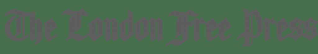 The London Free Press logo - greyscale