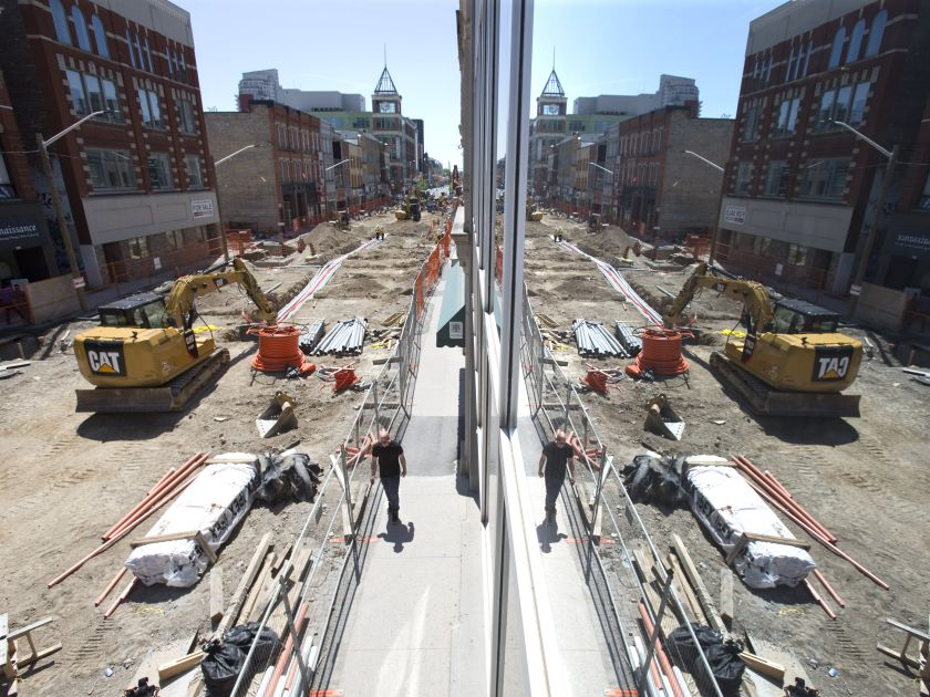 London Free Press image - construction in London