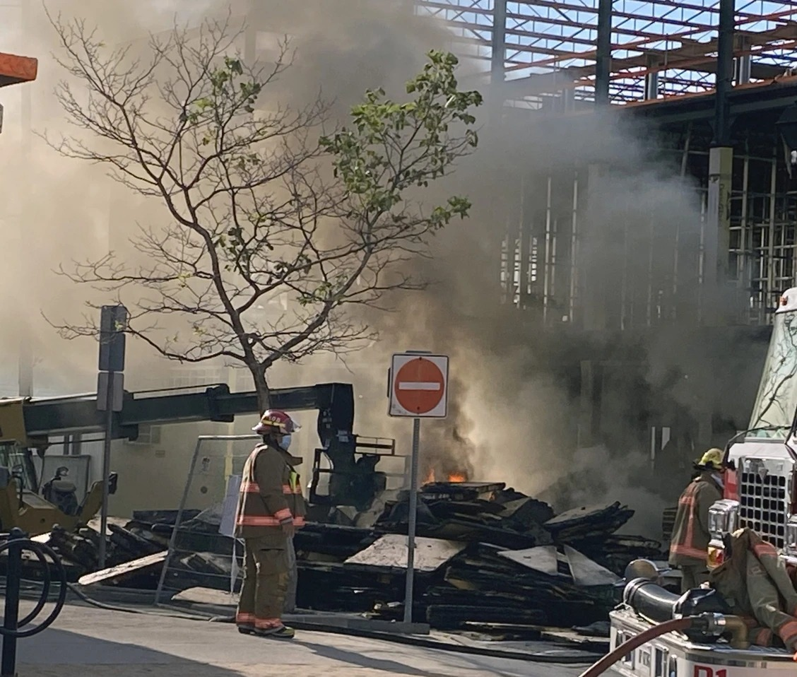 Fire at Dogwood Suites construction site in Simcoe - June 2020